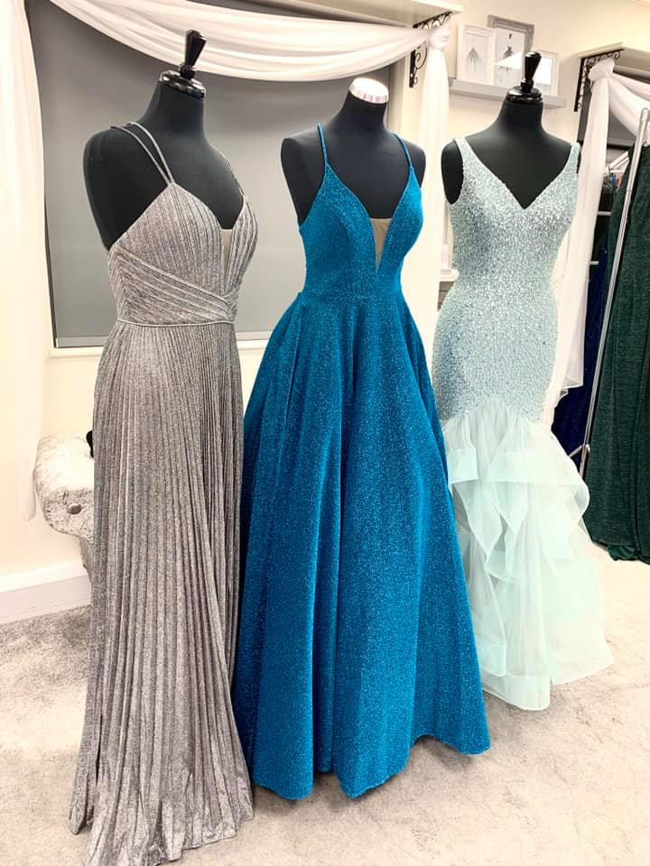 Prom Dresses On Display