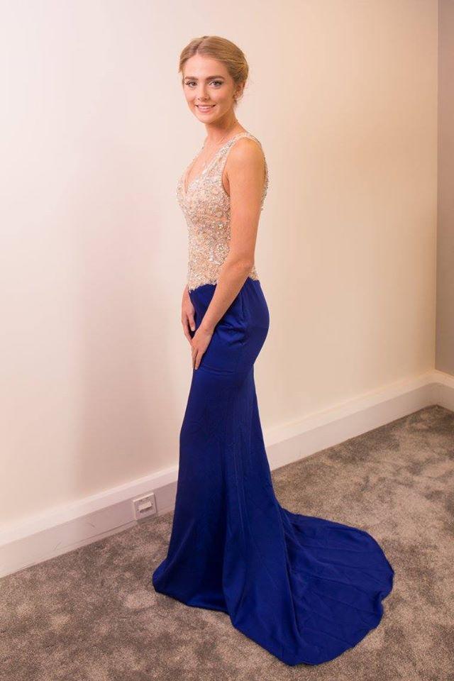 two tone prom dress