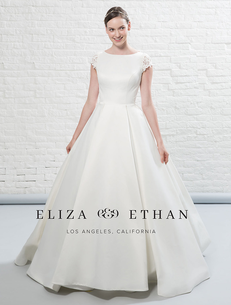 a line bridal dress