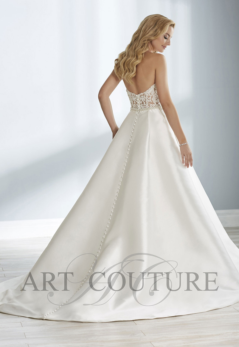 a line strapless wedding dress