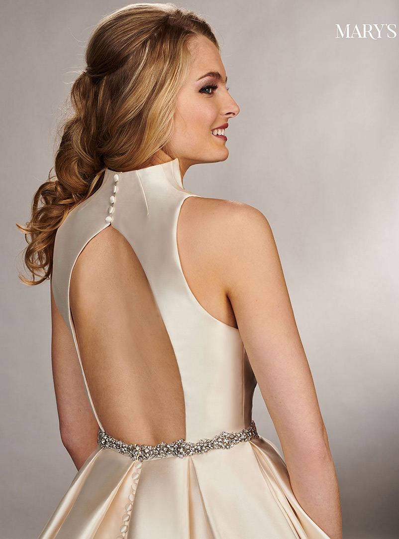 a line wedding dress with crystal beaded waistband