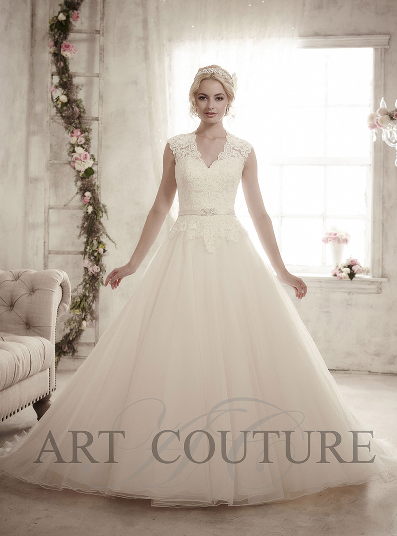 lace a line wedding dress