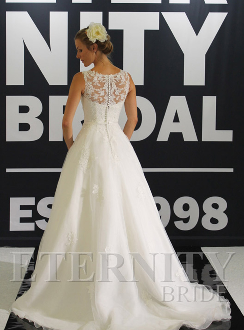 lace wedding dress a line with train