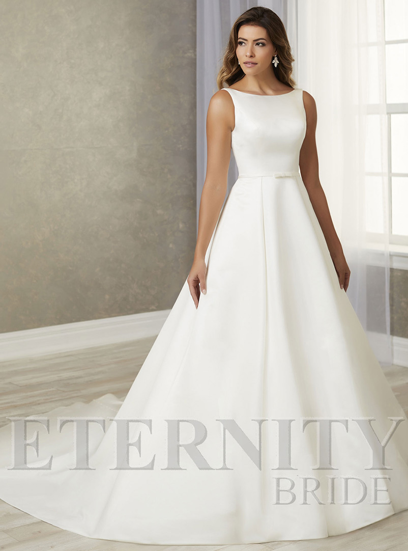 plain a line wedding dress