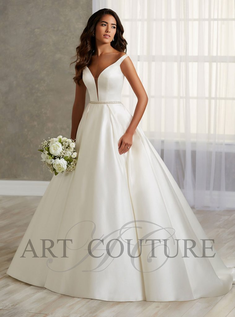 plain wedding dress a line