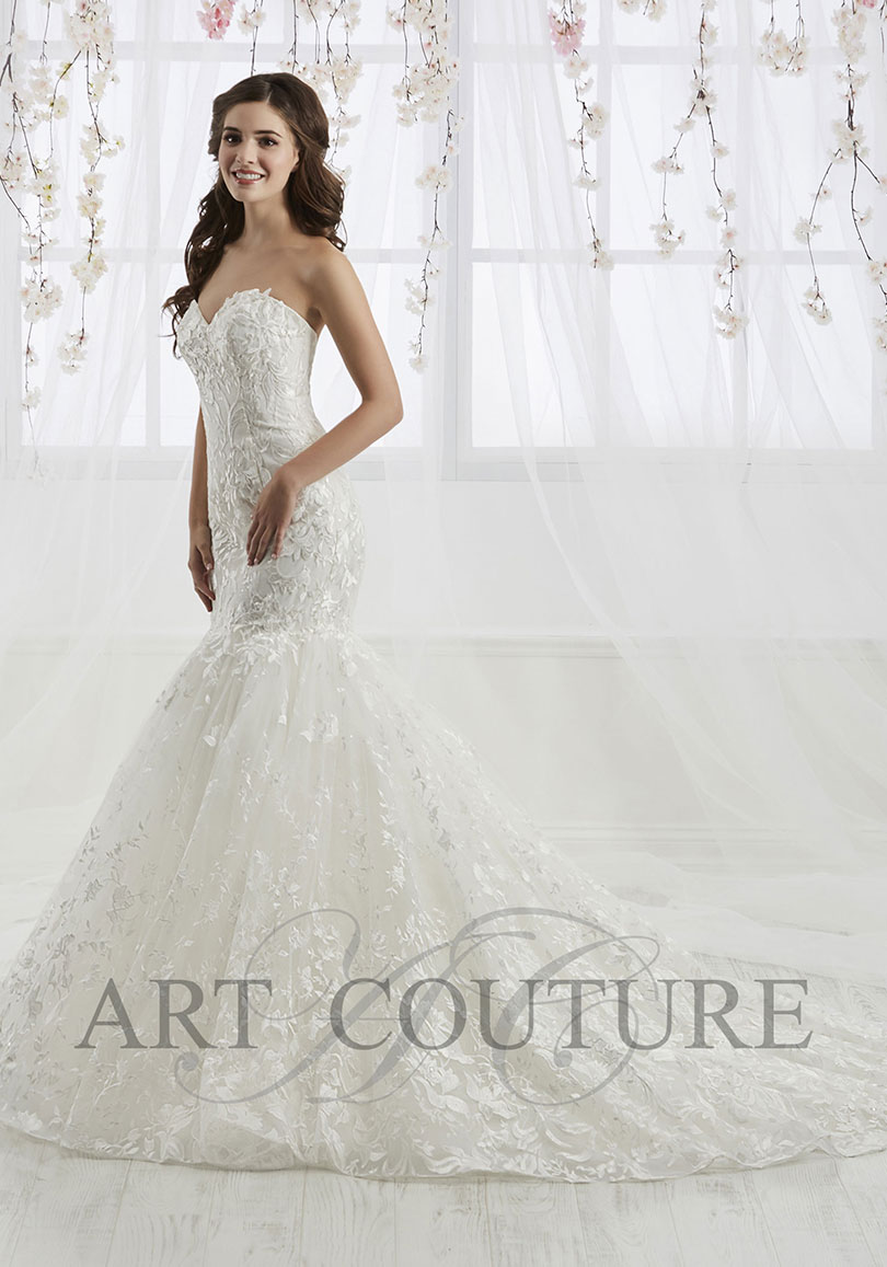 Tight lace wedding dress
