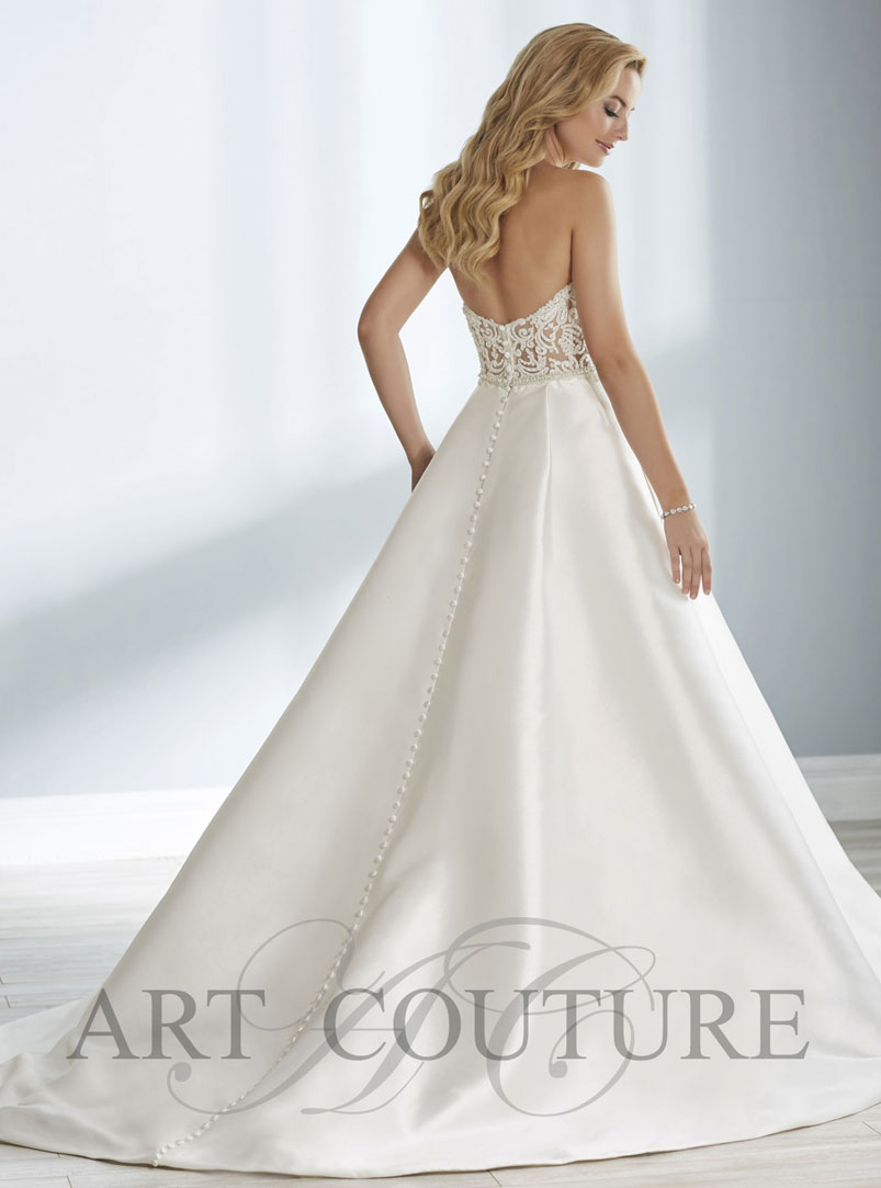 a line ball gown wedding dress