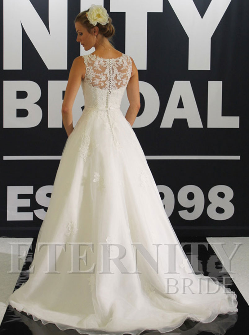 ball gown wedding dress with beaded central motif
