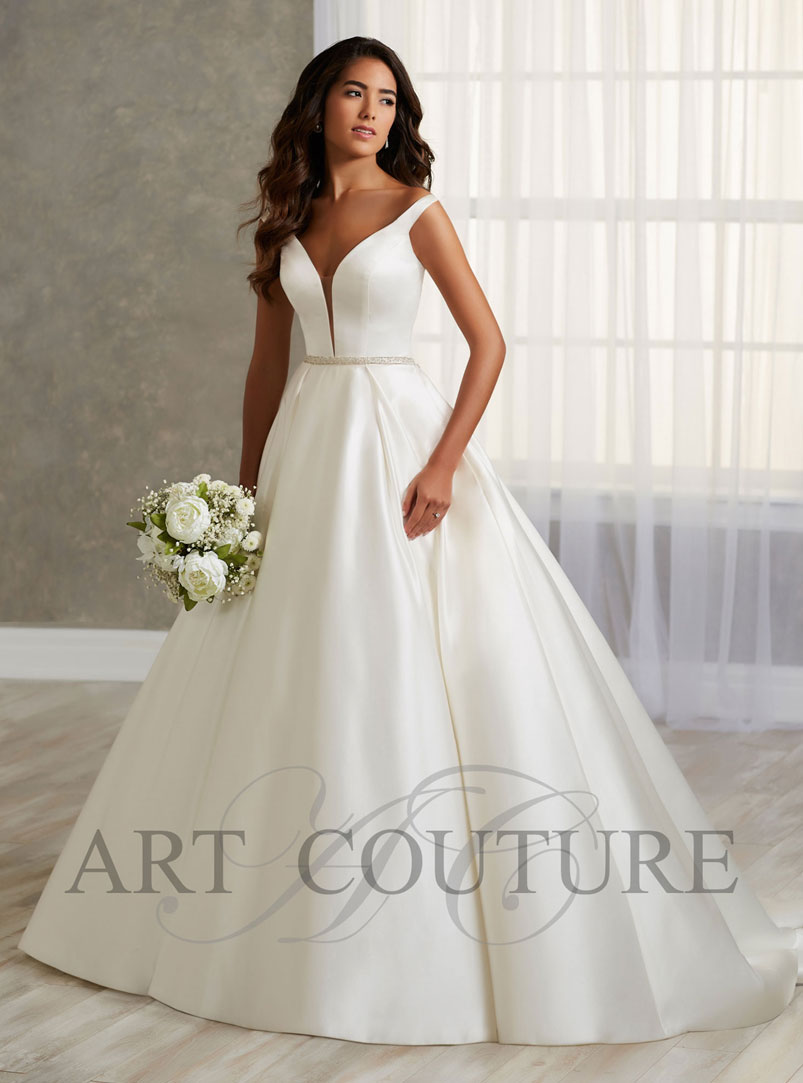 ball gown wedding dress with straps