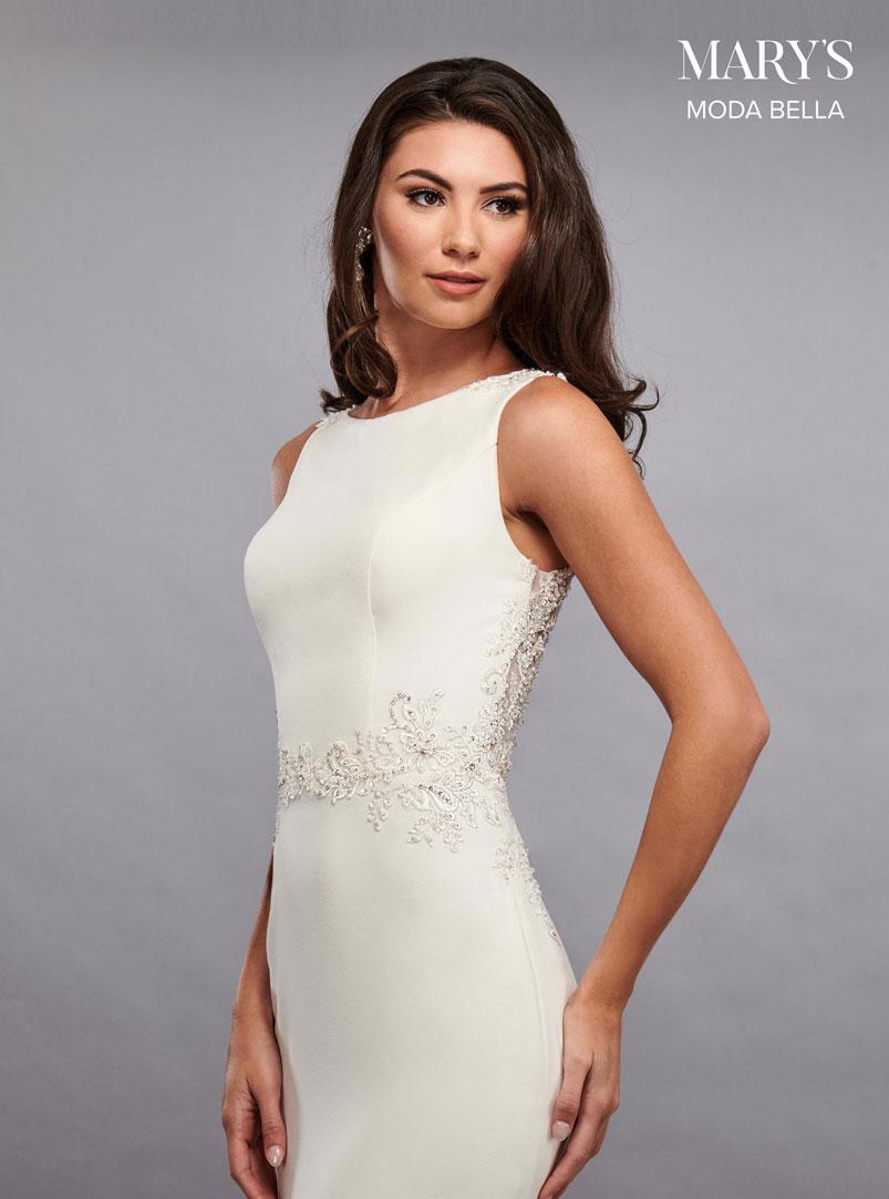 mermaid wedding dress with soft boat neckline