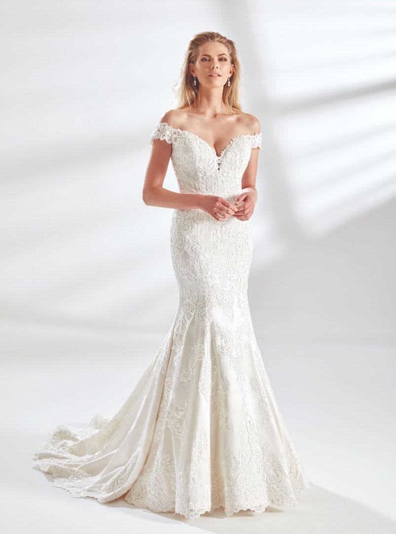 off the shoulder mermaid wedding dresses
