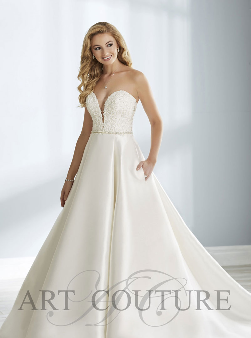 white ball gown wedding dress with lace