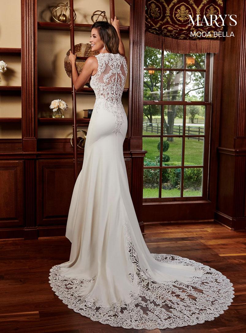 white crepe mermaid wedding dress