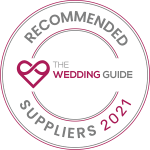 recommended by the wedding guide logo